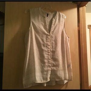 NYDJ Sleeveless Blouse Large worn and washed once